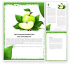 Food & Beverage: Cut Green Apple Word Template #05071