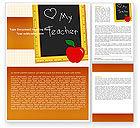 Education & Training: I Love My Teacher Word Template #05109