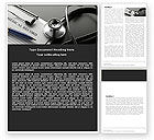 Medical: Medical Record Blank Word Template #05110