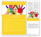 People: Colored Lines Word Template #05112