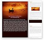Nature & Environment: Recreational Fishing Word Template #05122