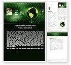 Technology, Science & Computers: Modèle Word de présence sur le web #05124
