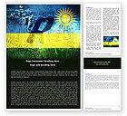 Flags/International: Rwanda Word Template #05127