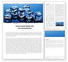 Food & Beverage: Plantilla de Word - cubos de hielo #05130