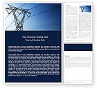Careers/Industry: Power Lines Mast Word Template #05131