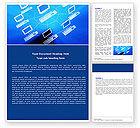 Technology, Science & Computers: 워드 템플릿 - 컴퓨터 그물 #05133