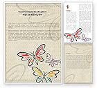 Abstract/Textures: Butterflies Word Template #05134