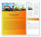 Utilities/Industrial: Excavator Word Template #05136