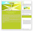 Consulting: Crossroad Sign Word Template #05137