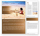 People: Sand Drawing Word Template #05139