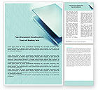 Technology, Science & Computers: Laptop In Light Blue Color Word Template #05146