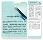 Technology, Science & Computers: 워드 템플릿 - 밝은 파란색의 노트북 #05146