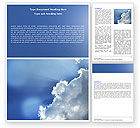 Nature & Environment: Sunshine Through Clouds Word Template #05175