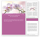 Nature & Environment: Orchid Word Template #05177