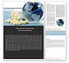 Medical: Bottle Of Tablets With Globe Word Template #05180