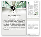 Business Concepts: Rushing Man Word Template #05184
