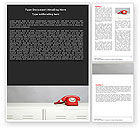 Telecommunication: Emergency Line Word Template #05198