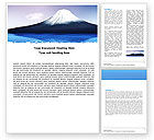 Nature & Environment: Mount Fuji Word Template #05201