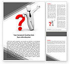 Consulting: Red Question Mark Under Hand Of Man Word Template #05202