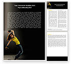 People: Modern Dance Word Template #05205