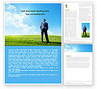 Education & Training: Happy Future Word Template #05212