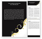 Abstract/Textures: Gold Ornament Word Template #05213