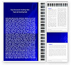 Art & Entertainment: Piano Keyboard On Blue Background Word Template #05220
