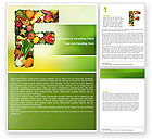 Food & Beverage: Food Word Template #05225