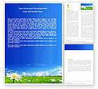 Nature & Environment: Spring Field Word Template #05231
