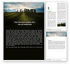 Flags/International: Stonehenge Word Template #05232