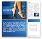 Nature & Environment: Feet Word Template #05233