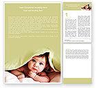 People: Baby Under Blanket Word Template #05234