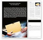 Business Concepts: File Transfer Word Template #05238