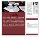Education & Training: Open Books Word Template #05246