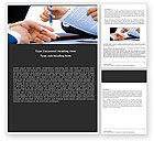 Business: Negotiation In Progress Word Template #05249