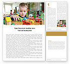 Education & Training: Kid Playing In Kindergarten Word Template #05252
