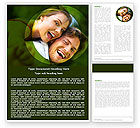 People: Young Couple Word Template #05254