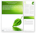 Nature & Environment: Green Leaf Falling Word Template #05260