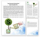 Financial/Accounting: Money Tree Word Template #05271