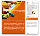 Education & Training: Preschool Education Word Template #05272