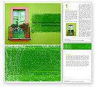 Abstract/Textures: Grüne wohnung Word Vorlage #05277