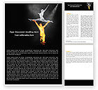 Art & Entertainment: Modern Ballet Word Template #05280