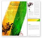 Sports: Moto-cross Word Vorlage #05281