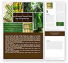 Nature & Environment: Bamboo Trees Word Template #05305