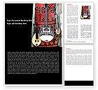 Art & Entertainment: Greek Musical Instruments Word Template #05306