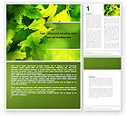 Nature & Environment: Maple Word Template #05314