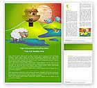 Education & Training: Free Noah's Ark Word Template #05316