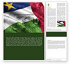 Flags/International: Central African Republic Word Template #05323