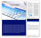 Technology, Science & Computers: Laptop Keyboard Word Template #05326