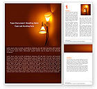 Careers/Industry: Free Lamps Word Template #05331